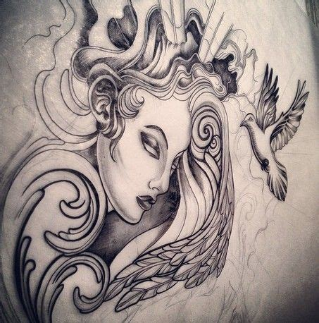 tattoo sketch angel sketch for custom angel tattoo by india india pinterest