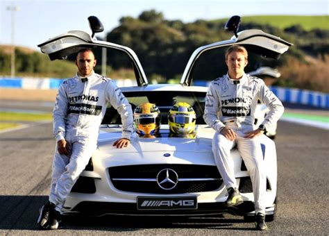 lewis hamilton shows off new hamilton shows his new mercedes indiatimes