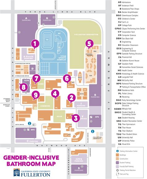 cal state fullerton map cal state fullerton site map cal state northridge cus map fresno state cus map city of