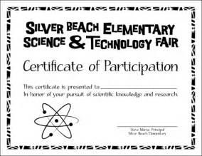 Science Fair Participation Certificate Template Science Fair Participation Certificate Template Search