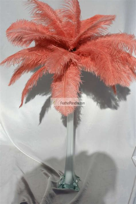 feather plume centerpieces coral ostrich feather centerpieces feather plume palm tree 6 sets wholesale bulk discount cheap