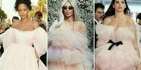dua lipa siapa rihanna kim k dua lipa dalam dress tulle baby pink
