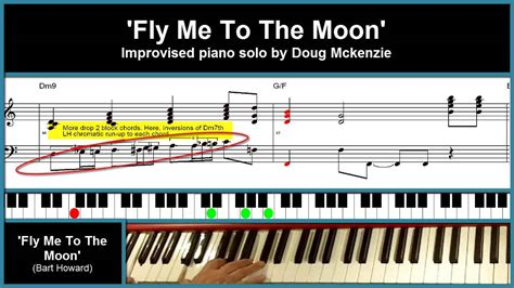tutorial piano fly me to the moon fly me to the moon jazz piano tutorial youtube