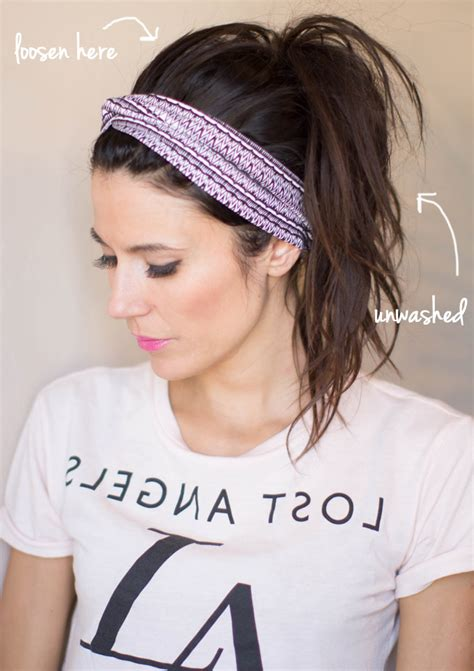 how to wear a top knot headband