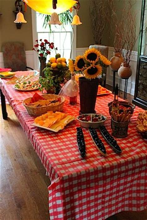country style bridal shower decorations italian wedding shower ideas everything was italian