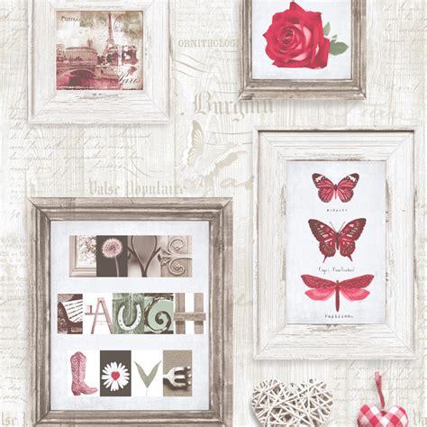 muriva  laugh love wallpaper red