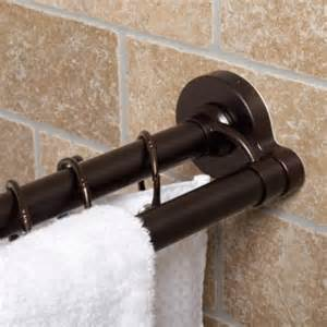 Buy beaded venetian oil rubbed bronze tension shower curtain rod from