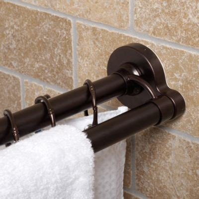 oil rubbed bronze shower curtain rod buy beaded venetian oil rubbed bronze tension shower