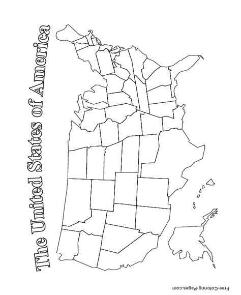 free coloring page usa map us map coloring pages