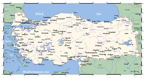 map with cities maps of turkey detailed map of turkey in tourist map of turkey road map of turkey
