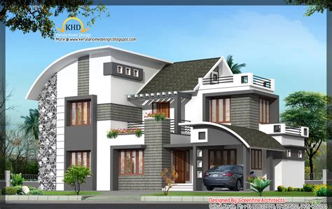 36x62 decorative modern house in india kerala home home design new modern contemporary house plans modern