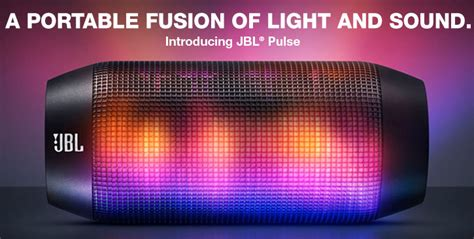 Jbl Pulse Wireless Portable Speaker Lights Up A Party