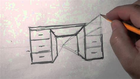 How To Make A Drawing Desk by 1 Pt Perspective Desk A Basic How To Draw Lesson