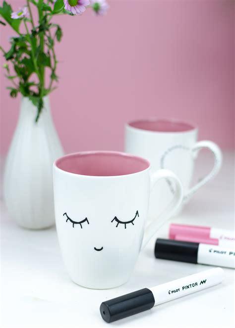 Tassen Bemalen Stifte by Diy Kaffeetassen Bemalen Mit Pintor Kreativmarkern