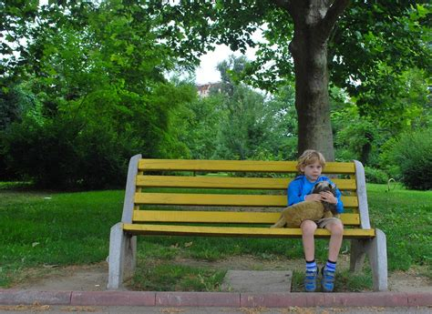 kids park bench boy on park bench alone free range kids