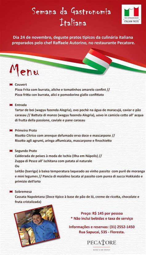 consolato italiano a belo horizonte i settimana della cucina italiana programmazione in