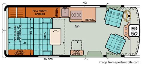 sprinter van conversion floor plans the best small rv s living large in a small space