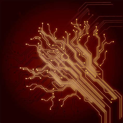 chip wires abstract electrical background vector