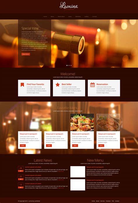 20 Best Restaurant Website Html Templates Best Restaurant Website Templates