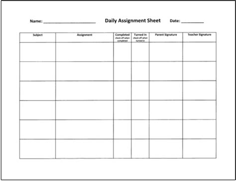 assignment sheet template for students homework tips that really work for teachers parents and