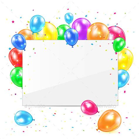 birthday card balloon template 27 blank birthday templates free sle exle