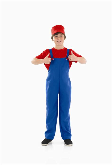 80s Accessories For Boys by Boys Plumbers Mate Boy Costume For 80s Fancy Dress