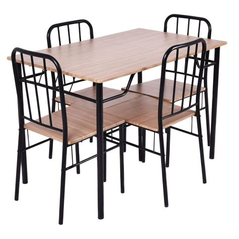 Set Table With Drawers by 5pcs Dining Set Table And 4 Chairs With Two Slide Out