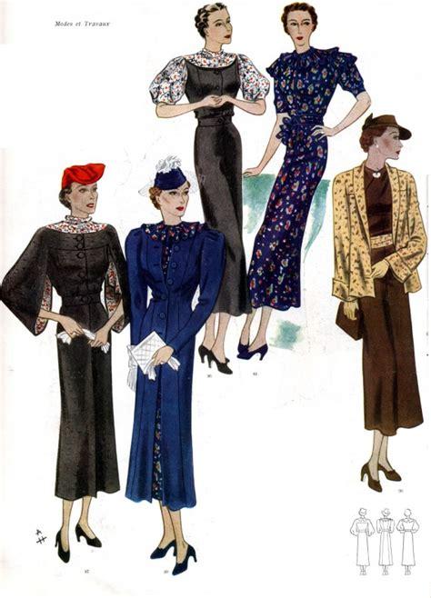 womens fashion mid thurtys 1930s fashion