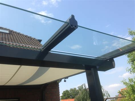markise glas berdachung terrassen 252 berdachung aus pulverbeschichteten