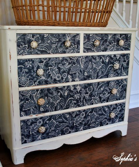 Fabric Dresser Drawers by S Dresser Makeover With Fabric