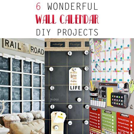 Diy Wall Calendar 6 Wonderful Wall Calendar Diy Projects The Cottage Market