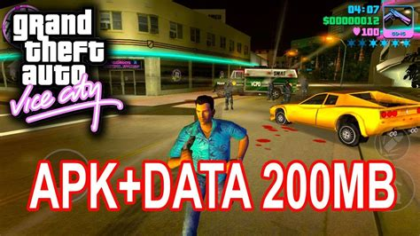 gta v apk data gta vice city android 200mb apk data free 2017 by captaintuts