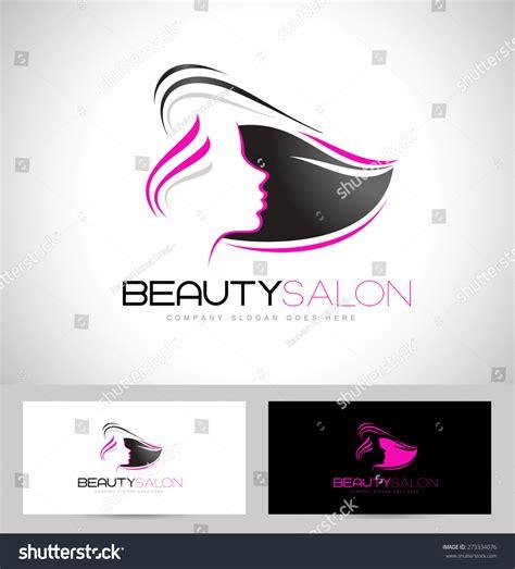 beauty layout vector beauty female face logo designcosmetic salon stock vector
