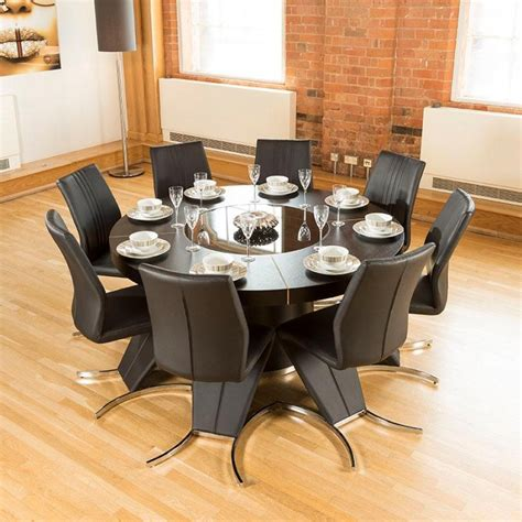 modern large black oak dining table 8 high back z