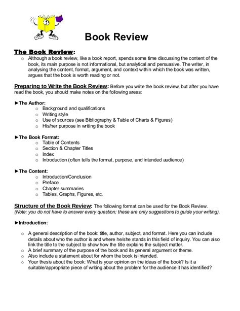 layout writing book book review format 1