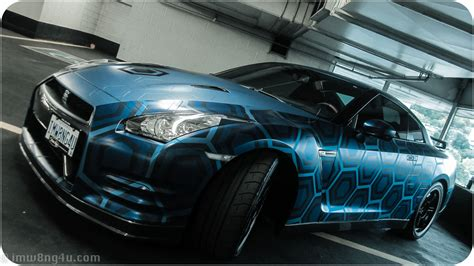 nissan gtr wrapped fox the craze in supercar wraps 3d effects