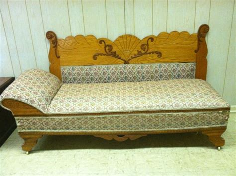 Fainting Slipcover by Antique Oak Fainting With Fold Out Bed Furniture