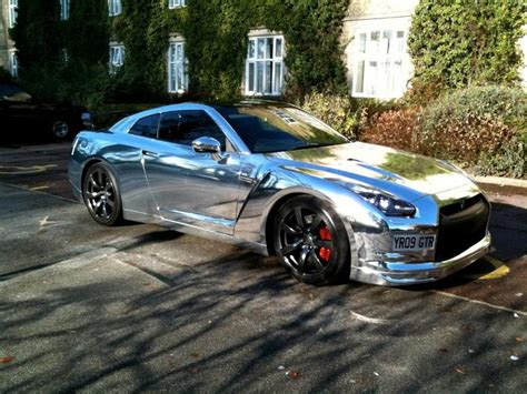 Chrom Auto by Nissan Gt R Chrome White And Matte Black Car Wraps Car