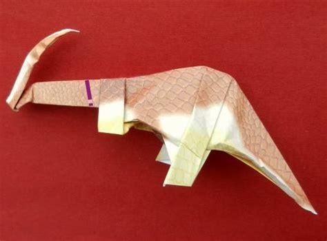 Origami Parasaurolophus - joost langeveld origami pagina