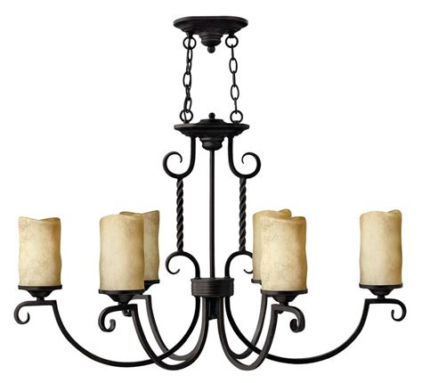 Pillar Candle Chandeliers Hinkley Lighting 3508ol Olde Black Casa 6 Light 1 Tier Candle Style Pillar Candle Chandelier