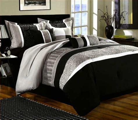 black white and grey comforter set home design