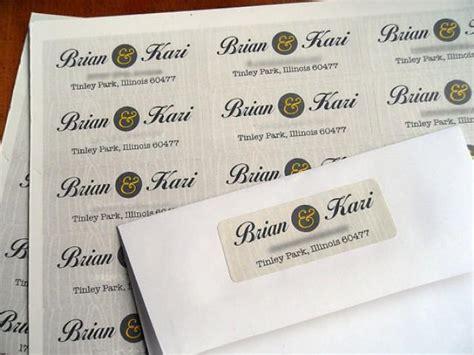 Return Address Labels For Wedding Invitations