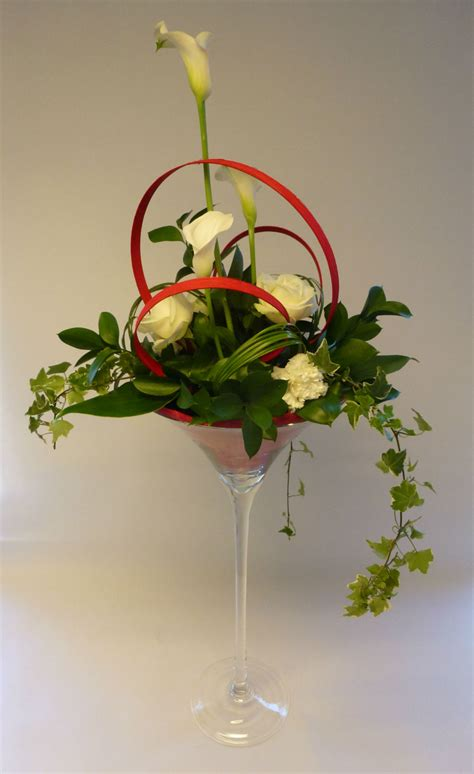 Vase Decoration Table by D 233 Coration De Table En Vase Martini Fleurs Mariage