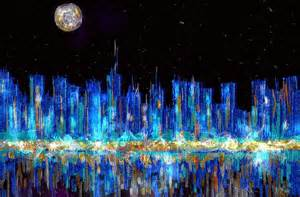 Using A Duvet Cover Abstract City Skyline Painting By Veronica Minozzi