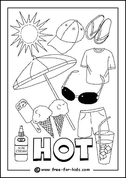 weather coloring pages for preschool image of hot day colouring page school calendar