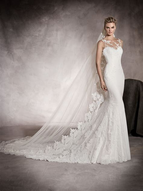 brautkleider pronovias prunelle wedding dress with sweetheart neckline