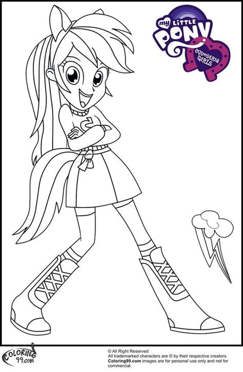 my little pony coloring pages rainbow dash human http