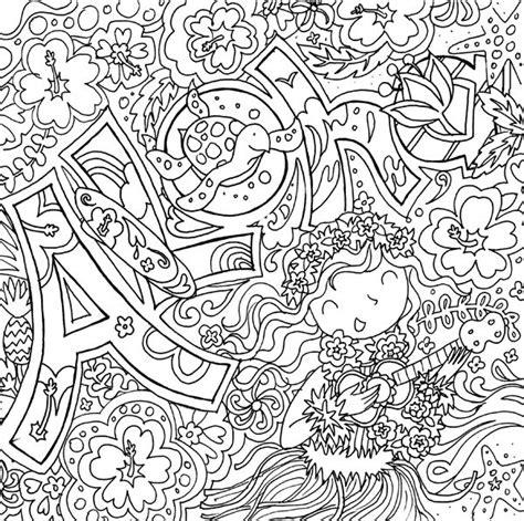 summer fun aloha coloring page adult coloring pinterest
