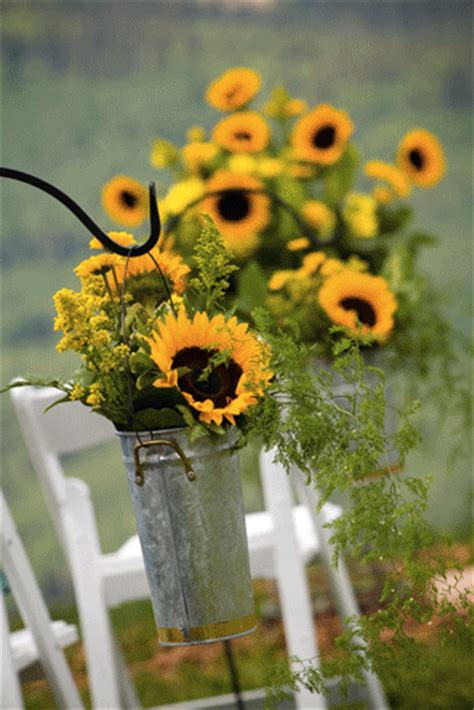 sunflower wedding rustic