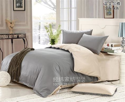 cream colored bedding 4 piece pastel french grey and cream colored staple cotton